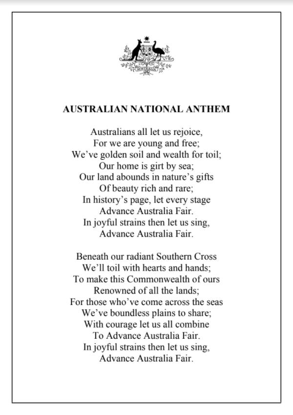Hymne Australien